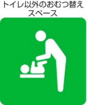 トイレ以外のおむつ替えスペース